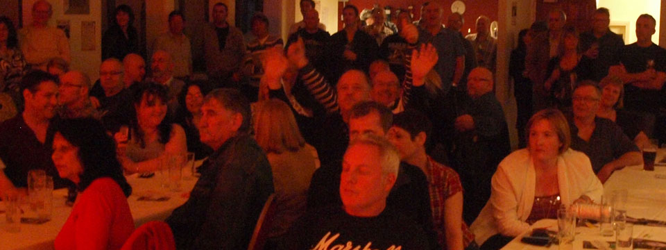 Audience at the saints rooms cockermouth